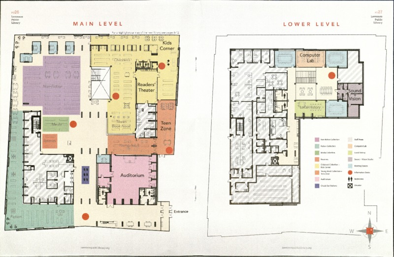 Floorplan of Renovated Library, 2014