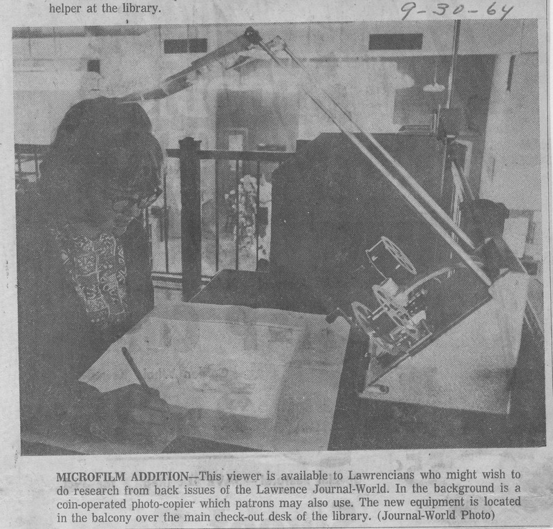 Microfilm Addition, 1964