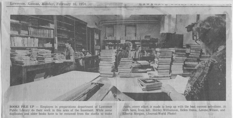 Books Pile Up, 1970