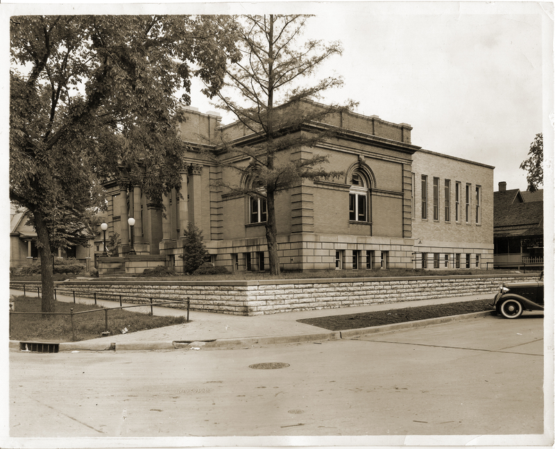 Expanded Carnegie Library Exterior, 1938