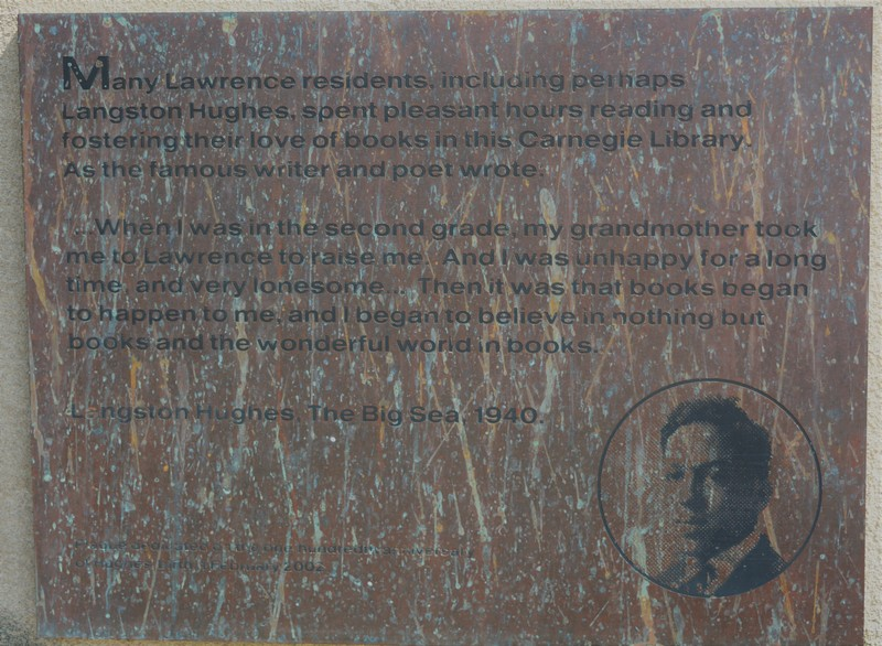 Langston Hughes's Plaque on Carnegie, 2002