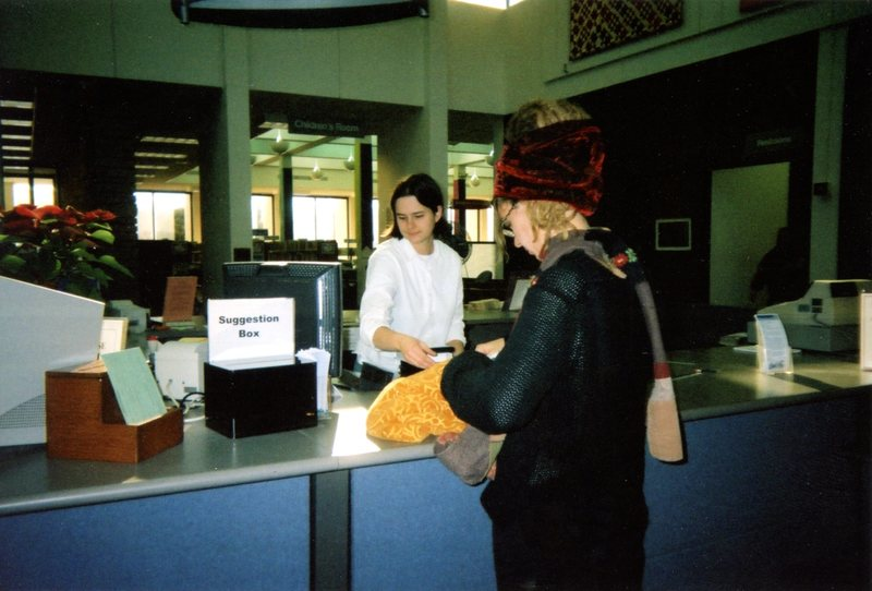 Patron at the Checkout Desk