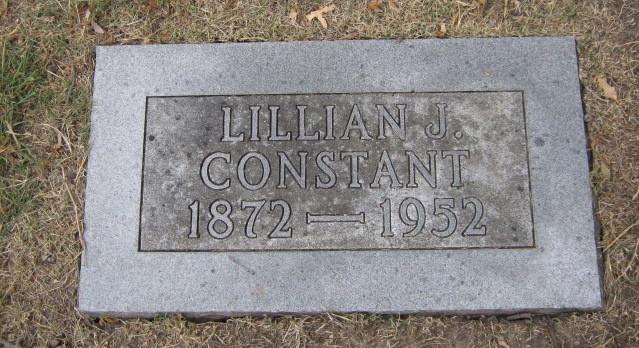 Grave of Lillian J. Constant, 1952