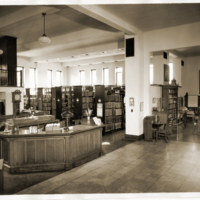 Expanded Carnegie Library Interior, 1938