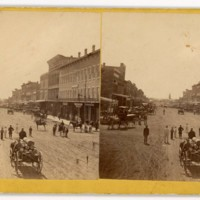 Massachusetts Street, looking south, 1868