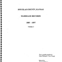 Douglas County, Kansas, Marriage Records, 1885-1897, Volume 2