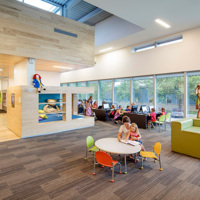 Renovated Library, Interior Kids Play Reading Area
