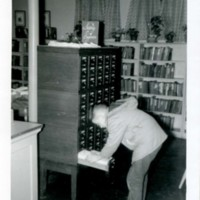 Child at the Card Catalog