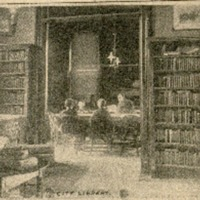 Picture of the Lawrence City Library Interior, 1895