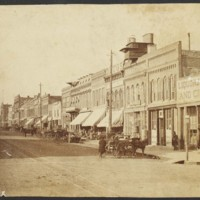 Massachusetts Street, East Side Looking North, Summer 1876