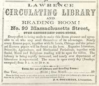 Advertisement for J.S. Boughton's Circulating Library, 1866