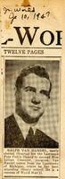 Announcement of New Head Librarian, Ralph van Handel, 1947