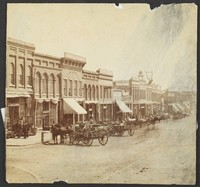 Massachusetts Street, East Side Looking South, Summer 1876